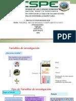 Variables y diseño metodológico