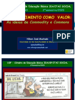 Minicurso 1 O Conhecimento Como Valor as Ideias de Commodities e Commons