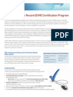 Electronic Health Record (EHR) Certification Program