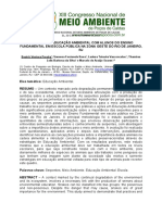 184. PRÁTICAS EM EDUCAÇÃO AMBIENTAL COM ALUNOS DO ENSINO FUNDAMENTAL EM ESCOLA PÚBLICA NA ZONA OESTE DO RIO DE JANEIRO, RJ