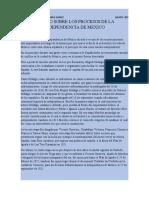 ENSAYO SOBRE LOS PROCESOS DE LA INDEPENDENCIA DE MEXICO