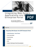 Integrating Web Dynpro Applications into Sap Enterprise Portal