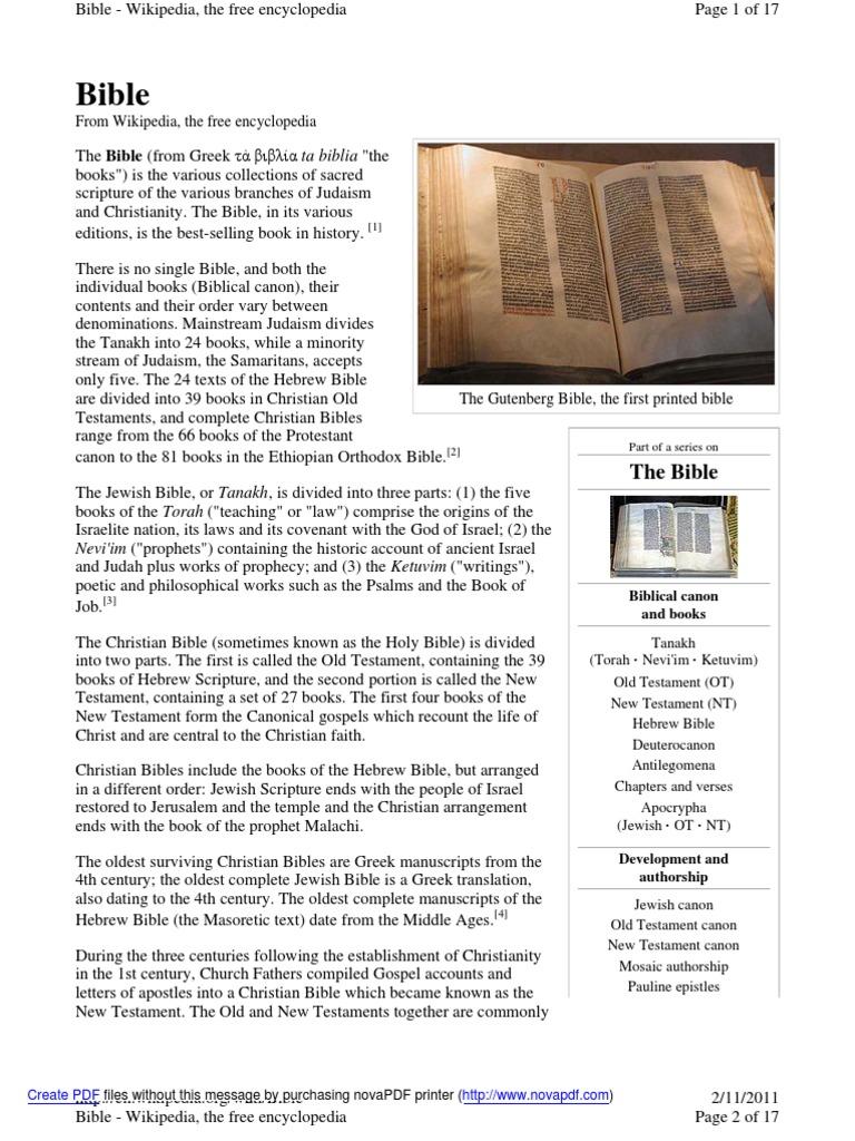 bible | Bible | Old Testament