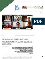 Presentan 'Mérida Resiliente', nuevo programa municipal de fortalecimiento a la cultura – Yucatan Ahora