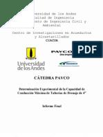 02-Determinación Experimental de la Capacidad Hidraulica de Tuberías de Drenaje de 4_