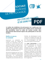 L'action sociale des institutions de prévoyance