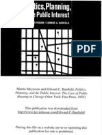 Edward C. Banfield, Politics, Planning, and the Public Interest