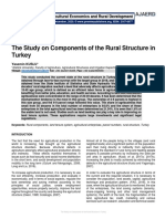 The Study on Components of the Rural Structure in Turkey
