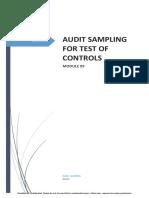 Module 09 Audit Sampling for TOC