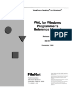 WAL for windows reference