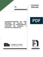 norma acondicionadores de aire metodos de ensayo de capacidad de enfriamiento, consumo de enrgia y eficiencia energetica.