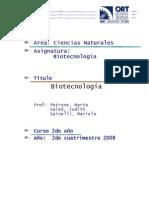 biotecnologia 2do cuatrimestre