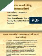 Social marketing summarized