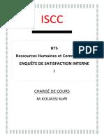 ISCCours d'enquête de satisfaction 1-RHCOM