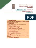 LAMPEA-Doc 2011 – numéro 7 / Vendredi 18 février 2011
