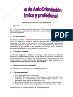 Programa AutoOrientacion 4ESO Resumen