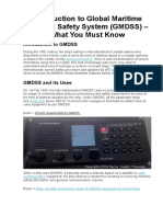 Introduction to Global Maritime Distress Safety System (GMDSS) – What You Must Know