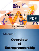 Chapter 1 Overview of Entrepreneurship (1)