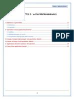 Chapitre 2  applications linéaires