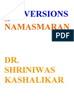 Conversions and Namasmaran Dr. Shriniwas Kashalikar
