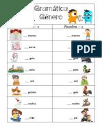 Gramática - género
