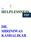 Hope and Helplessness Dr. Shriniwas Kashalikar