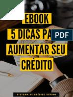 Ebook - 5 Dicas Para Aumentar seu Cr'dito