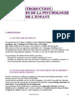 Introduction - Les racines de la psychologie de l'enfant