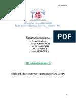 TD Microéconomie Serie 1 CPP corrigé
