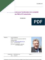 ACXIAS 2010. De nouvelles voies pour l'amélioration de la rentabilité des PME et ETI industrielles (introduction)