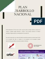 Plan desarrollo nacional