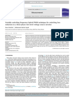 Variable switching frequency hybrid PWM technique for switching lossreduction in a three-phase two-level voltage source inverte
