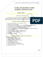 Marketing Research and Consumer Behaviour Case Study