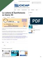 Le catene di Sant'Antonio su Query 40