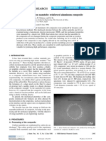 1998 - Processing of Carbon Nanotube Reinforced Aluminum Composite - T. Kuzumaki