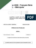 l-francais-2009-metropole-corrige