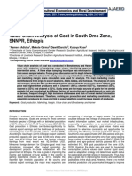 Value Chain Analysis of Goat in South Omo Zone, SNNPR, Ethiopia