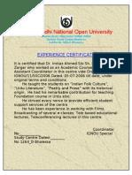 IGNOU certificate