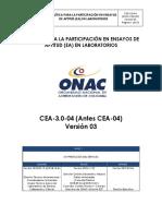 1-CEA-3.0-04 V3. 2019-02-06 Política participación en ensayos de aptitud (EA) en laboratorios (1)