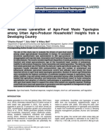 What Drives Generation of Agro-Food Waste Typologies among Urban Agro-Producer Households? Insights from a Developing Country
