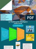 La Planificación Estratégica Institucional