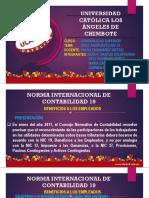 EXPOSICIÓN DE LA NIC 19