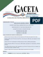 Division Territorial de Costa Rica
