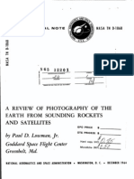 A Review of Photography of the Earth From Sounding Rockets and Satellites