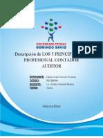 DESCRIPCION DE LOS 5 PRINCIPIOS DEL PROFESIONAL CONTADOR AUDITOR