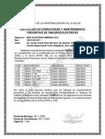 Certificado de Tableros Eléctricos REA Lima 2020