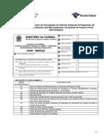 Modelo de Documento de Arrecadação do Sistema Integrado de Pagamento de Impostos e Contribuições das Microempresas e Empresas de Pequeno Porte