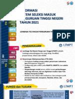 Informasi Sistem Seleksi Masuk PTN Tahun 2021 v.5 07 Januari 2021