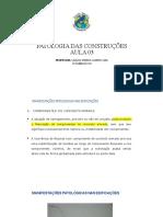 AULA 03 - PATOLOGIA DAS CONSTRUÇÕES (2)