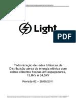 Padronização de Rede Compacta em espaçadores 15kV e 362kV - Revisão 02